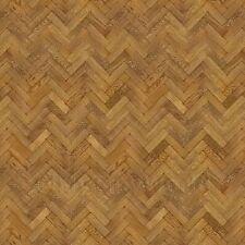 Dolls House Miniature Parquet Flooring 6 Inch Dark Honey Colour Oak Strip Effect