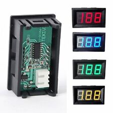 3-Digital Mini DC 0-100V Red LED Display Voltage Voltmeter Panel Volt Meter Chic
