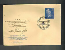 1955 Berlin West Germany First Day Cover # 9N115 Wilhelm Furtwangler Musician