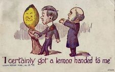"UNHAPPY GROOM ""I CERTAINLY GOT A LEMON HANDED TO ME"" Lemon Series by A. H.  1910"