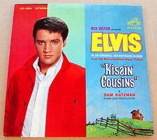 Elvis Presley VERY RARE No Cast Photo & Orange Label LP Kissin' Cousins LSP-2894