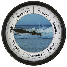 """DAY OF THE WEEK CLOCK  """"Breakers"""" 10"""" Wall Day Clock #D231B"""