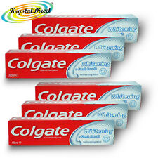 6x Colgate Whitening & Fresh Breath Mint Toothpaste 100ml Remove Stains Plaque
