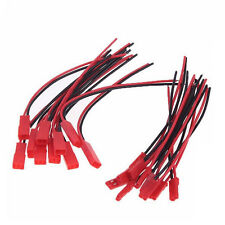 10 Pairs 100mm JST Connector Plug Cable Male + Female for RC BEC Lipo Battery