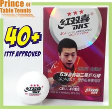 6x DHS 40+ 3 star Table Tennis Balls - New Material, Cell-Free