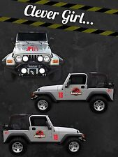 Jurassic Park Custom Jeep Safari Vinyl Decal Sticker Kit-CANADA