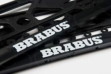 MERCEDES BENZ BRABUS LOGO ALL MODEL FRAME EURO for LICENSE PLATE PLATES 2PCS