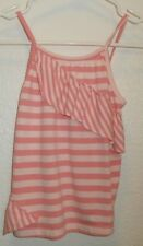Roxy kids girls top Size 5 or medium Pink striped brand name tank top