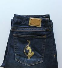 Junior's BABY PHAT Embroidered Rhinestone Pocket Jean Bootcut Size 13
