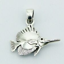 Silver pendant hand crafted Billfish 3D 925 sterling 29mm height brand new fish