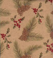 CHRISTMAS PINES GIFT WRAPPING PAPER -LARGE 30 Ft Roll