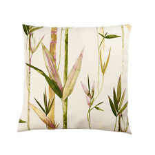 LUXURY HEAVY WEIGHT FABRIC Cushion Covers FLOWER Cotton Floral Bamboos VINTAGE
