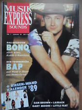MUSIKEXPRESS 1 - 1989 4* Bono Vox BAP Sam Brown Laibach Gary Moore Little Feat