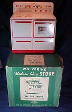 Vintage Metal Wolverine Play Stove in Original Box Toy Stove