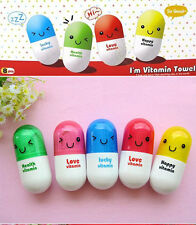 Brand New Portable Travel Cute Foadable Styling Pill Vitamin Capsules Towel kit