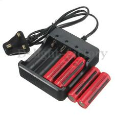 4 x Protected 18650 3.7V 3800mAh Li-ion Rechargeable Battery + 4.2V UK Charger