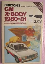 lot151----Chilton's   GM X-Body 1980-81 Repair and Tune-Up Guide.