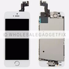 White Touch Screen Digitizer + LCD Display + Frame + Front Camera for Iphone 5S