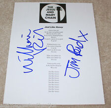 THE JESUS AND MARY CHAIN JIM WILLIAM REID SIGNED JUST LIKE HONEY LYRIC SHEET COA