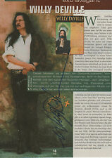 Willy DeVille Autogramm signed A4 Magazinbild