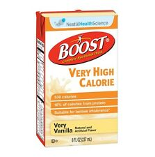 Boost VHC Vanilla, Very High Calorie, 8 Oz. Brikpack, Fresh Product, Case of 27