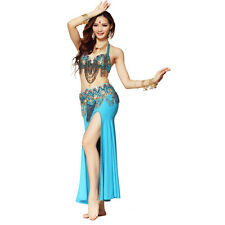 Belly Dance Costume Outfit Set Bra Belt Hip Scarf Bollywood Carnival 2/3PCS
