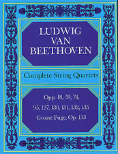 Beethoven Complete String Quartets And Grosse Fugue Score Music Book