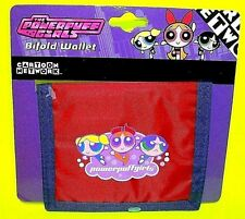 Powerpuff Girls Bubbles Buttercup Blossom Action Figure BiFold Red & Blue Wallet