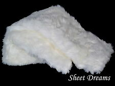 Nicole Miller White Polar Bear Faux Fur Throw Blanket New Tags