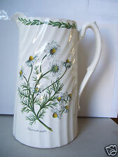 """Antique Large Chamomilla Recutita Floral 8"""" Tall Water Pitcher Unsigned"""