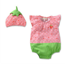 New Infant Baby Girl Costume Hat Cap+Romper Bodysuit Clothing Set 12-18M Outfit