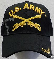 LICENSED US ARMY INFANTRY SOLDIERS HORSE CAVALRY ARMOR UNIT CROSS SWORDS CAP HAT