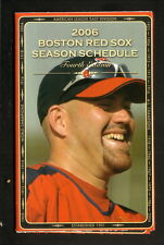 Kevin Youkilis--2006 Boston Red Sox Schedule--Budweiser