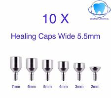 10 Healing Cap Wide 5.5mm for Dental Implant Internal Hex Prosthetic Lab