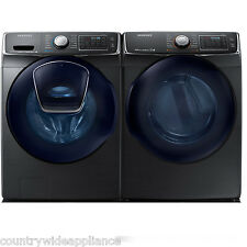 Samsung Black Stainless Front Load Washer Electric Dryer WF50K7500AV DV50K7500EV
