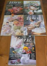VICTORIA Magazine -Lot of 5 1995 Back Issues - January, March, April, May & June