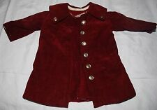 Antique Edwardian Child's Corduroy Quilted Coat & Matching Dress Suit Some TLC