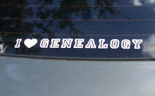"""I Love Genealogy"" Car Decal 