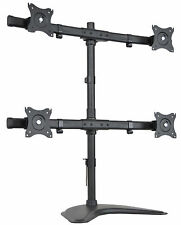 Quad Monitor Heavy Duty Stand Free Standing Desk Mount / 4 LCD Screens up to 27""