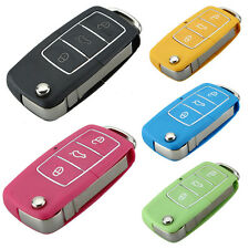 3 Button Various Colour Uncut Remote Car Key fob Case for VW  pink green blue