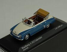 1958 Wartburg A312 Cabriolet blue white blau weiss 1:43 Minichamps