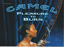 2001 Near Mint Print Ad Poster Camel Pleasure to Burn Singer