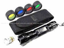 UltraFire R2 CREE LED CR123A/16340/18650 Torch w/ A025 Color Filter Lens WF501B