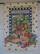"""NEW 28""""x40"""" OUTDOOR STRAWBERRY DECORATIVE FLAG BY IMPRESSIONS SUMMER/FALL DECOR"""