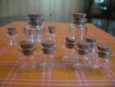 100 4ml Bitty Bottles. Small Glass Vials W/ Cork Lids. Bottles with Cork Topper.