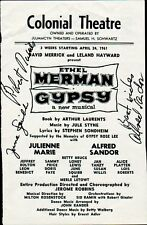 GYPSY Playbill Cast Page Signed by JUNE SQUIBB + Two More