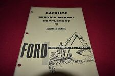 Ford Tractor Automated Backhoe Shop Service Repair Manual CHPA