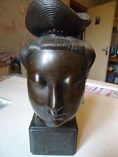 Buste Asiatique en bronze