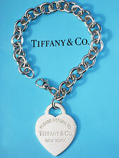 Tiffany & Co Silver Return To Tiffany Heart XL Extra Large Tag Bracelet