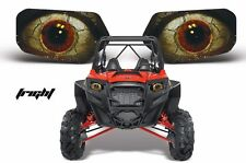 AMR Racing Polaris RZR 800/900 UTV Headlight Graphics Eye Sticker Decals FRIGHT